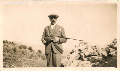 Luis Iñarra cazando