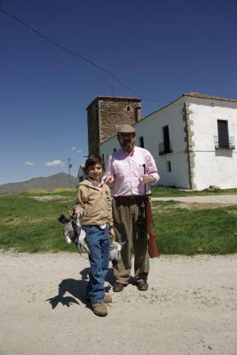 Javier Goicoechea Cruzat y su padrino, el Marques de los Castillejos