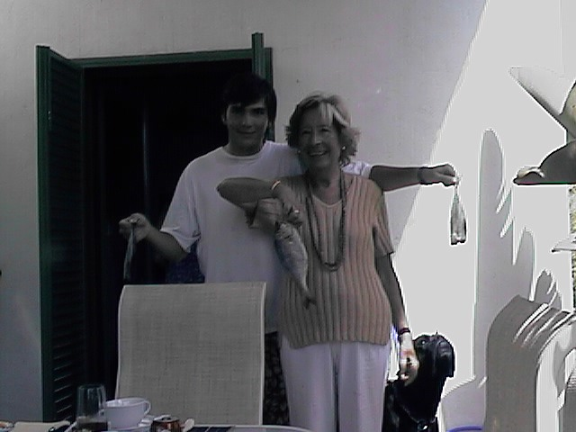 Tere Q-Salcedo e Ignacio Baselga en la casa de Salcedo en Sotogrande